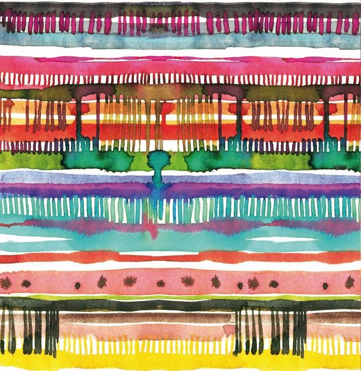 Watercolor pattern by Laura Muñoz Estellés