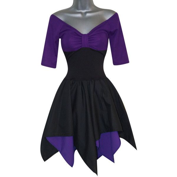 Sea Witch Gothic Dress Costume (UK 10) (US 6) (EUR 38) Ladies Womens... ($58) ❤ liked on Polyvore featuring costumes, dresses, womens gothic costumes, purple costumes, gypsy costume, role play costumes and womens gothic halloween costumes