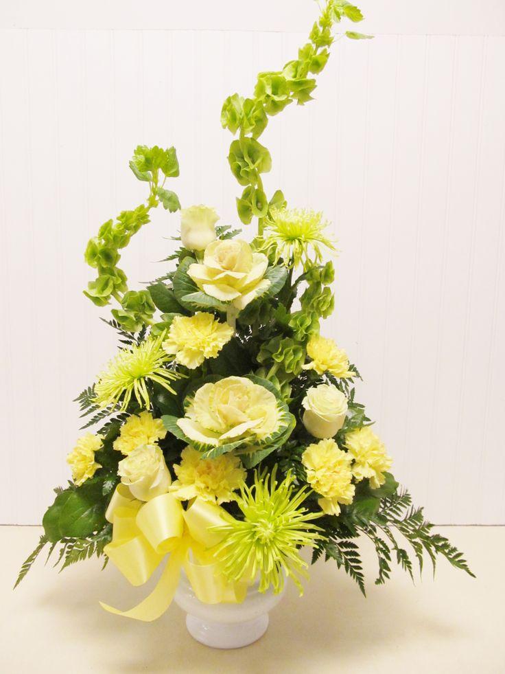 yellow and green arrangement