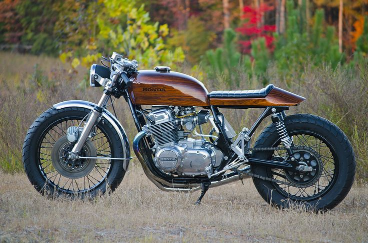 Retaining Retro - 'Woody' Honda CB750 cafe racer - via returnofthecaferacers.com