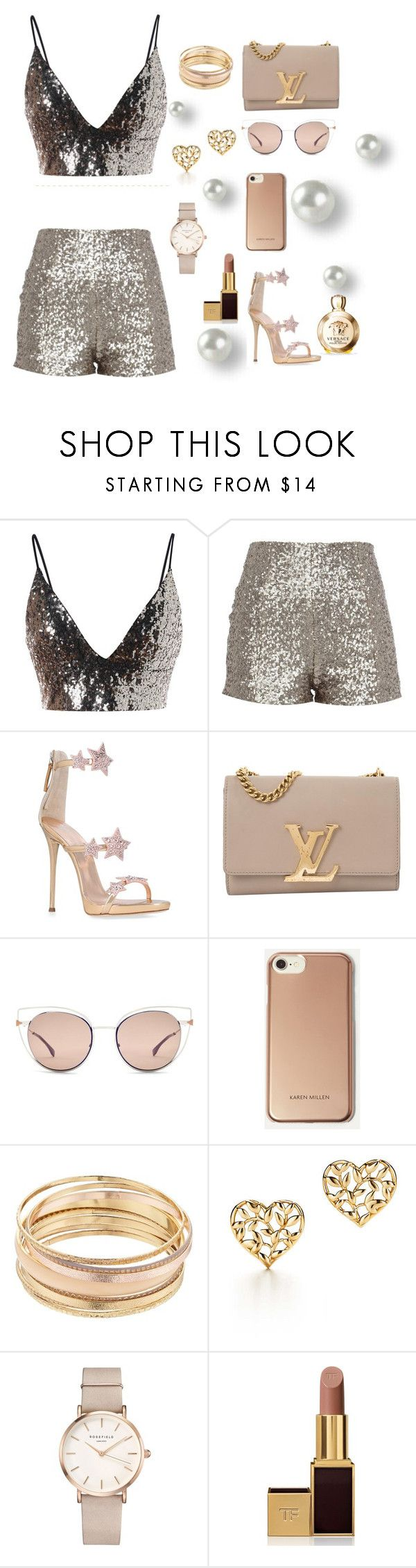 """Untitled #196"" by mmmmrrrr ❤ liked on Polyvore featuring Giuseppe Zanotti, Louis Vuitton, Fendi, Karen Millen, Mudd, Paloma Picasso, ROSEFIELD, Tom Ford and Versace"