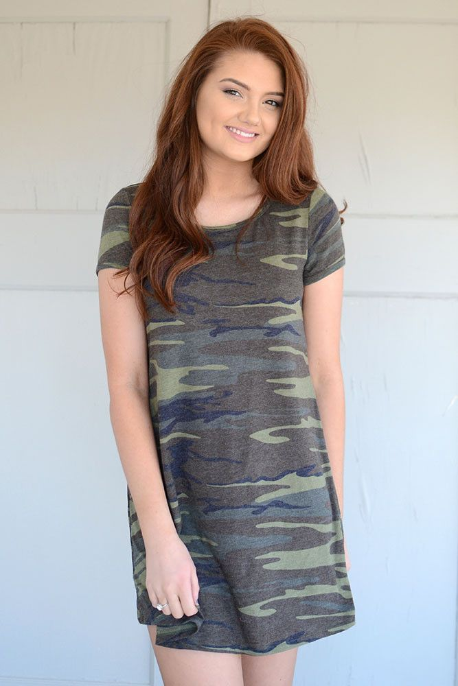 Z Supply Connor Camo Dress from Page 6 Boutique