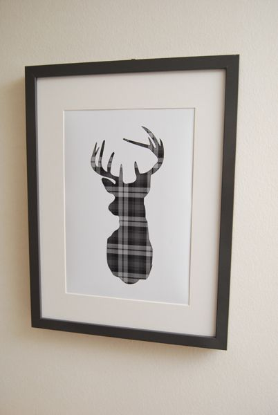could use this idea for any silhouette in any tartan...cut large as you can on cricut from plaid paper and frame!