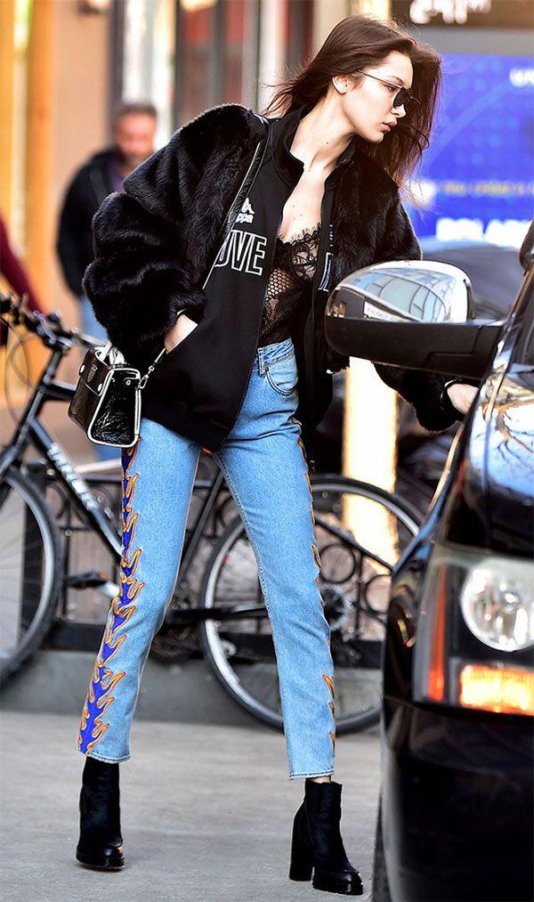 Street style look com body e jaqueta.