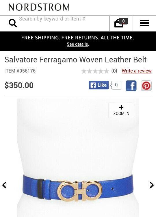 Salvatore Ferragamo belt from Nordstrom