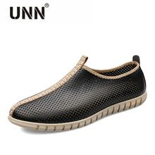 2017 Spring Summer Men's Casual Shoes Genuine Leather Low drive shoes male Business  Shoes men lazy Loafers plus size 47 46