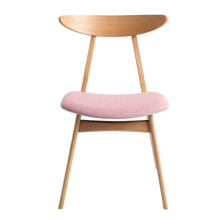 Jídelní židle Enet, růžová