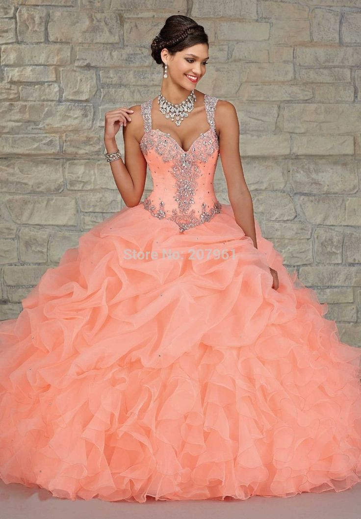 Find More Quinceanera Dresses Information about 2015 Hot New Stock Quinceanera Dresses With Crystal Beaded Sweetheart Ball Gown Orange See Though Back  Vestidos De 15 Anos,High Quality quinceanera designer dresses,China quinceanera plus size dresses Suppliers, Cheap quinceanera dresses black from Romantic bride wedding dress Suzhou Co., Ltd. on Aliexpress.com