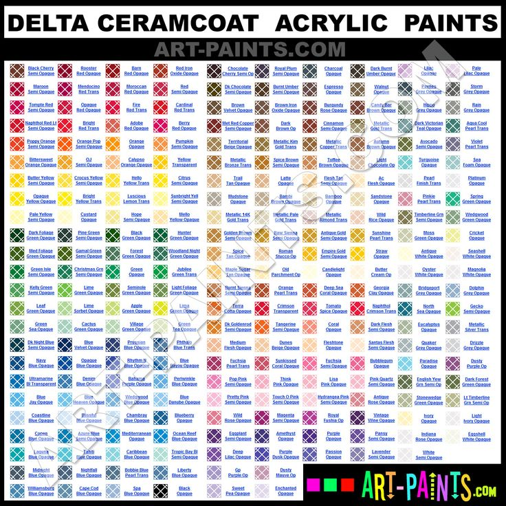 Craft Spray Paint Colors