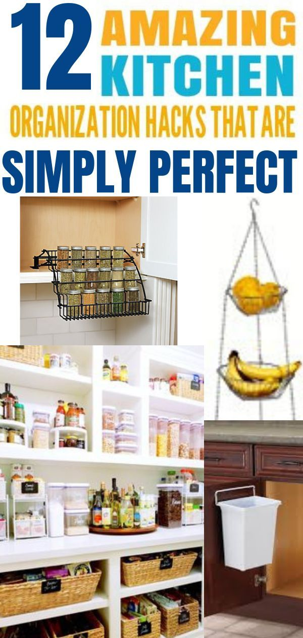 12 Super Hacks To Always Keep Your Kitchen Organized Simple hacks