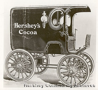Hershey Chocolate Riker Electric vehicle, ca.1900 by Hershey Community Archives, via Flickr: