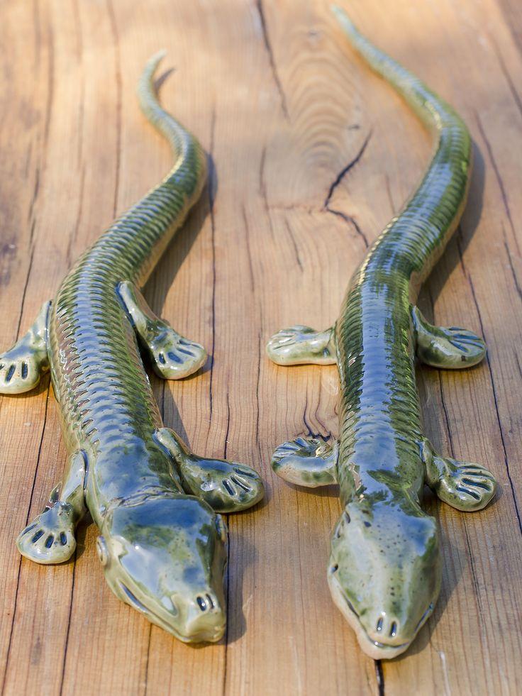 Lizard in stoneware