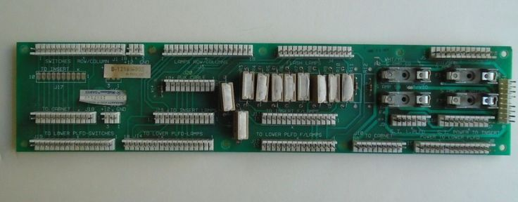 Taxi~swards Of Fury~pinball Parts~ Interconnect Board~williams 1988