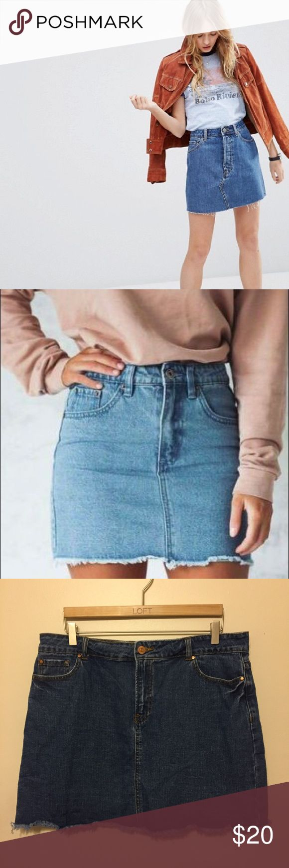 Denim Mini Skirt Mid wash denim. EUC. TTS. Perfect wardrobe essential for all seasons. Model pictures are similar styles.   ✨ Ask any questions! 💕 Reasonable offers welcome 📦 Bundle 2+ items for 15% discount Forever 21 Skirts
