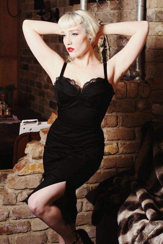 Pinup rockabilly stretch black lace wiggle by holachicaclothing, $160.00