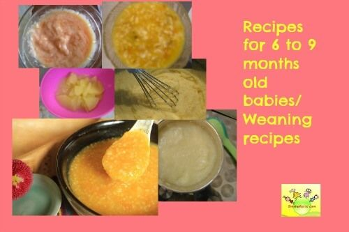 Indian baby food recipes 6-9 month old