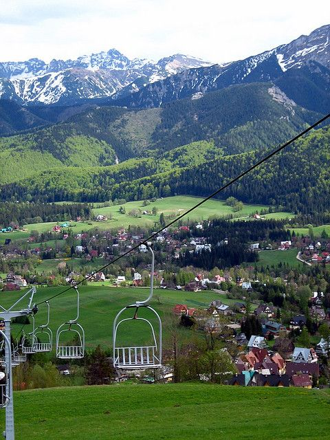 Zakopane  Poland  rode the ski lift, beautiful city with very unique house styles