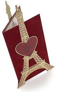 Fabulous invitation for a Paris - themed party or wedding!