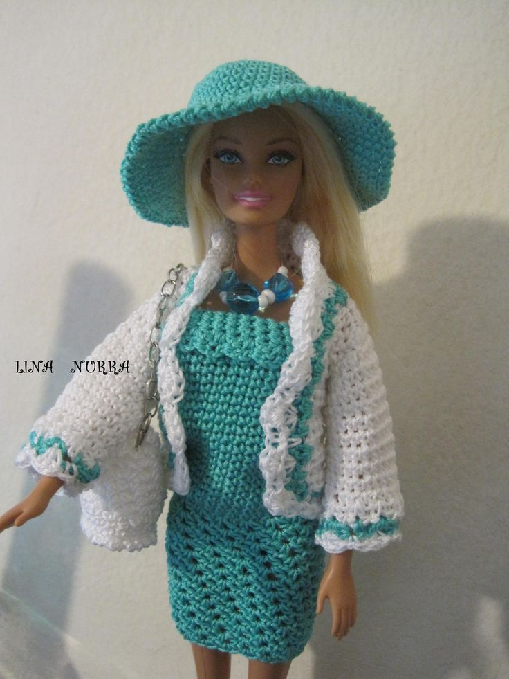 Free Barbie Knitting Patterns : 1054 Best images about knit and crochet for dolls 2 on Pinterest Barbie dre...