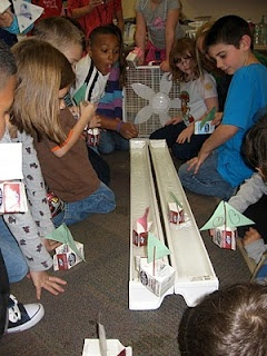Wind in Your Sails Experiment (milk carton sailboat and gutters)...play up the building and decorating the boat and this could totally be done in an art classroom!!!