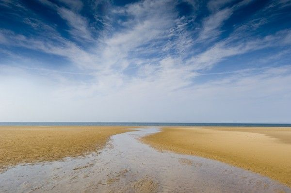 Holkham Beach in North Norfolk.