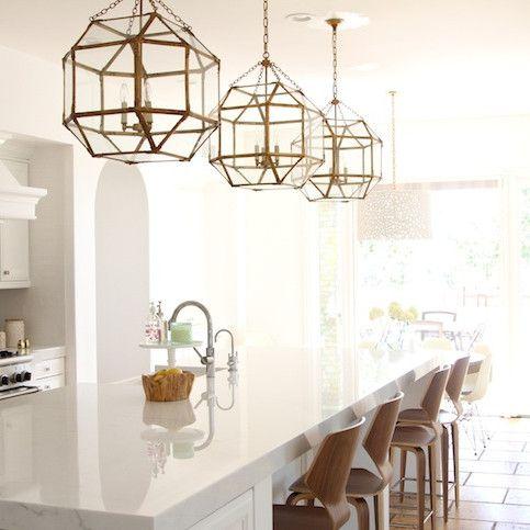 Brass pendant lights