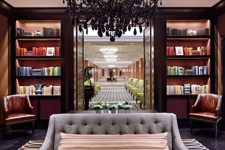 RITTENHOUSE HOTEL  |  THE LIBRARY BAR LOUNGE | lobby interior design, contract lobby, interior design | #hotelinteriorlobby #interiordisigner #modernhotel  | More: http://hotelinteriordesigns.eu/essential_grid/100-boutique-hotels/