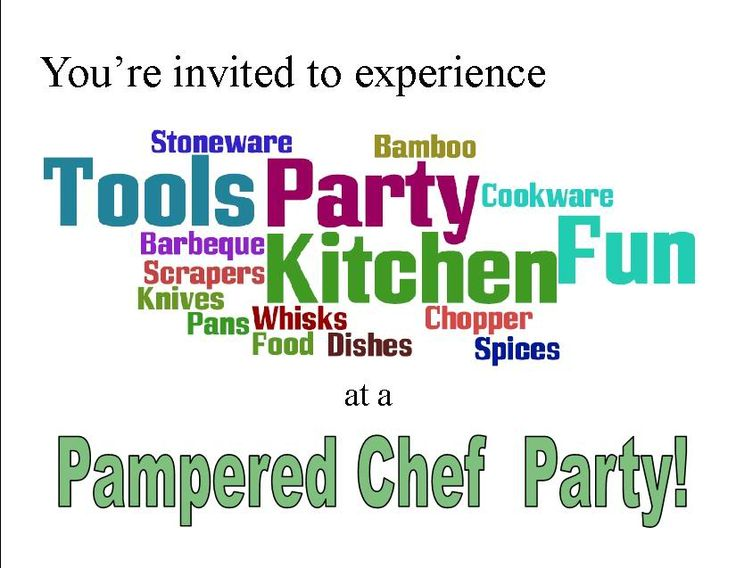 printable pampered chef invitations