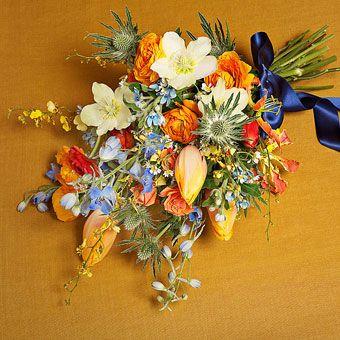 Tulips, Tweedia, and Delphinium | Wedding Flowers