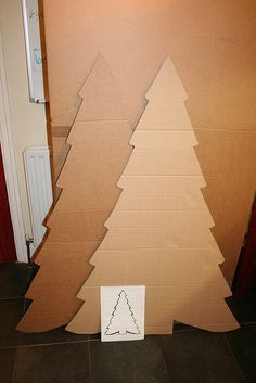 Cardboard Christmas Tree - putting in the hall by the kids rooms for them to decorate