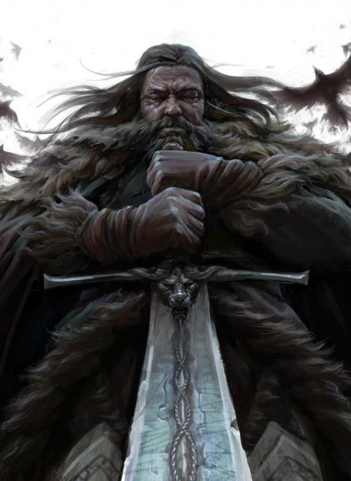 "Recently this picture was run with the caption ""Wotan"". I've just found it captioned ""Ned got agot asoiaf"" (Translation: Ned Stark, Game of Thrones, A Game of Thrones, A Song of Ice and Fire."") So, yes, indeedy, that's who it is."