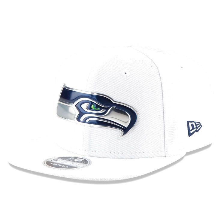 Seattle Seahawks New Era Kickoff Baycik 9FIFTY Snapback Adjustable Hat - White - $27.19