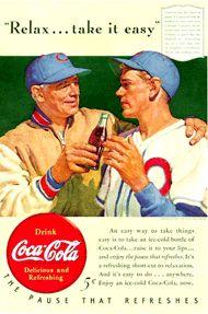 vintage coke baseball ad