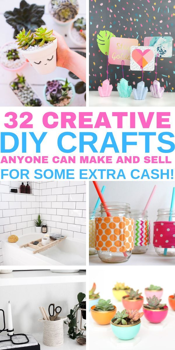 32 Easy Crafts To Make And For Extra Money From Home These Quick Diy Ideas Are Can Be Sold A Profit On Etsy