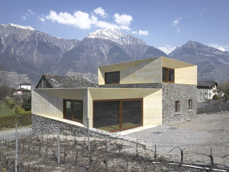 Extension to a stone house in the Swiss Alps by clavienrossier architectes  House Extensions