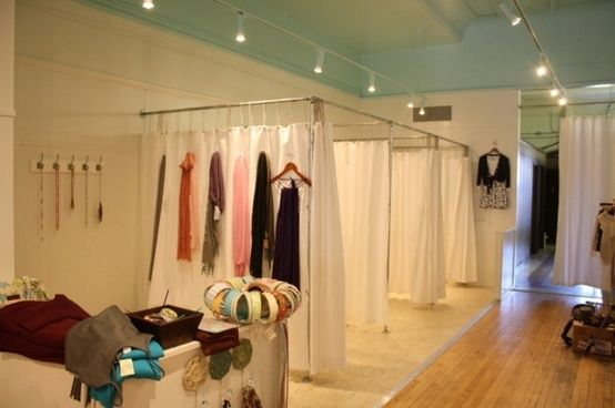 Retail clothes shop fittings