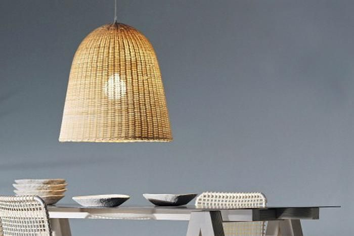 High Low Rattan Bell Pendant Rattan Light Design And Pendants