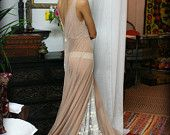Sheer Nude Bridal Lingerie Embroidered Sleepwear 20's Inspired Sarafina Dreams
