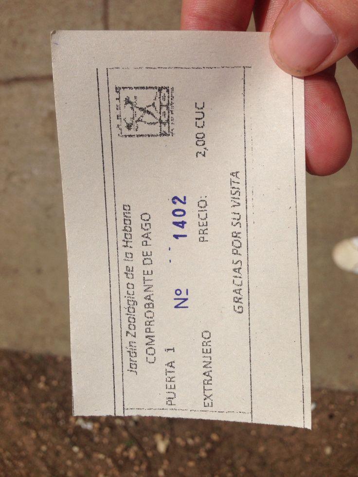 Ticket to the Havana Zoo