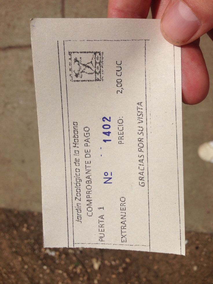 Ticket to the Havana Zoo