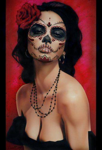 Isabella Muerta Daniel Esparza Art Print Sugar Skull Death Mask