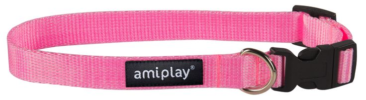 Adjustable collar with lock Basic, Pink