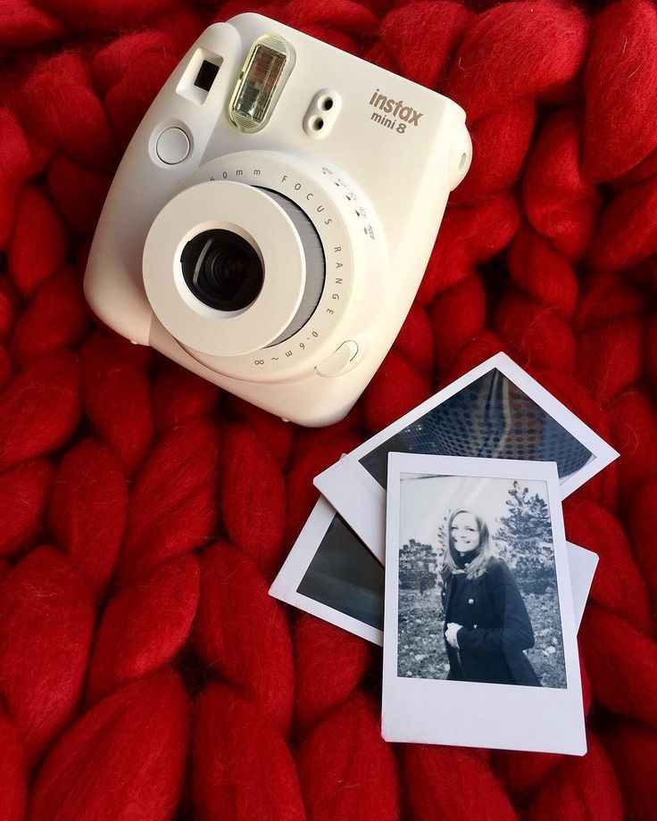 Get your new polaroid camera! Instax Mini 8 White camera and Instax Mini Monochrome film - perfect duo! #instax #polaroid #tumblr