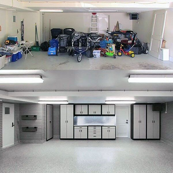 large garage lighting ideas | 100 Garage Storage Ideas for Men - Cool Organization And ...