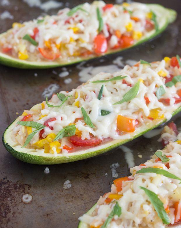 Twice-Baked Zucchini Boats #idealshape #zucchini