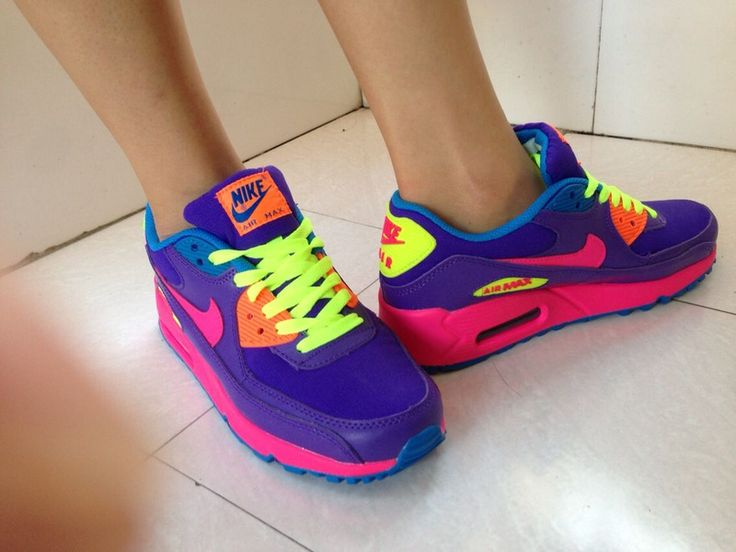 colorful, hoes, and neon image   Nike shoes women, Nike air shoes ...