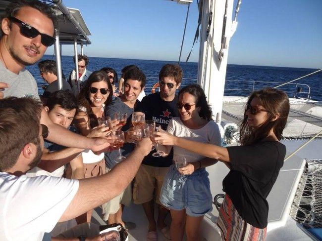 Catamaran charter for large groups (80pax), Sado estuary, Lisbon - Go Discover Portugal travel