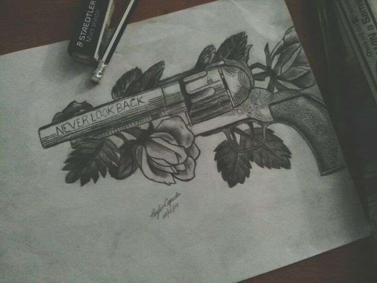 What girl can draw a 44 magnum revolver? This girl :)