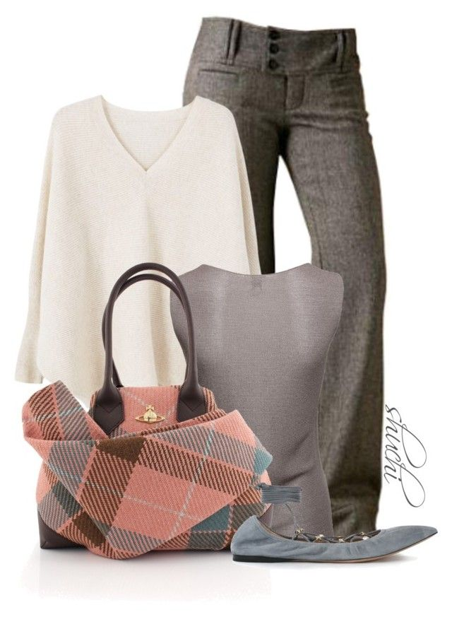 """Plaid Foldover"" by shuchiu ❤ liked on Polyvore featuring Free People, MANGO, Armani Collezioni, Vivienne Westwood, Valentino, plaid and cardigans"