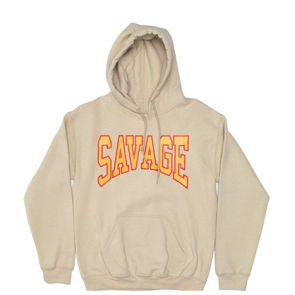 Savage Pullover in Tan ($65) ❤ liked on Polyvore featuring tops, sweaters, hoodies, brown tops, sweater pullover, brown sweater, pullover tops and tan top